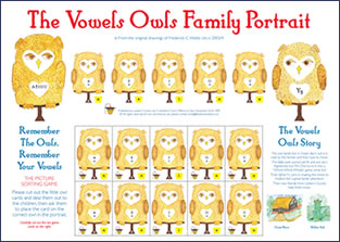 The Vowels Owls Family Education Poster